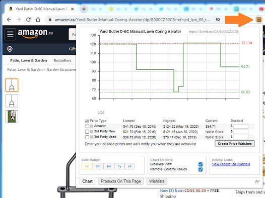 Camelizer browser extension