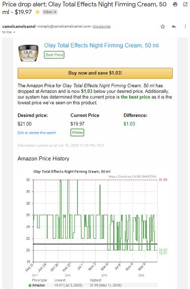 CamelCamelCamel price history.