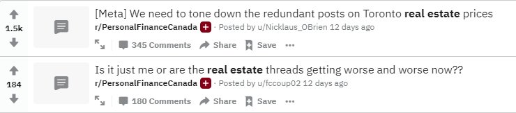 Redditors expected COVID-19 to crash the real estate market.